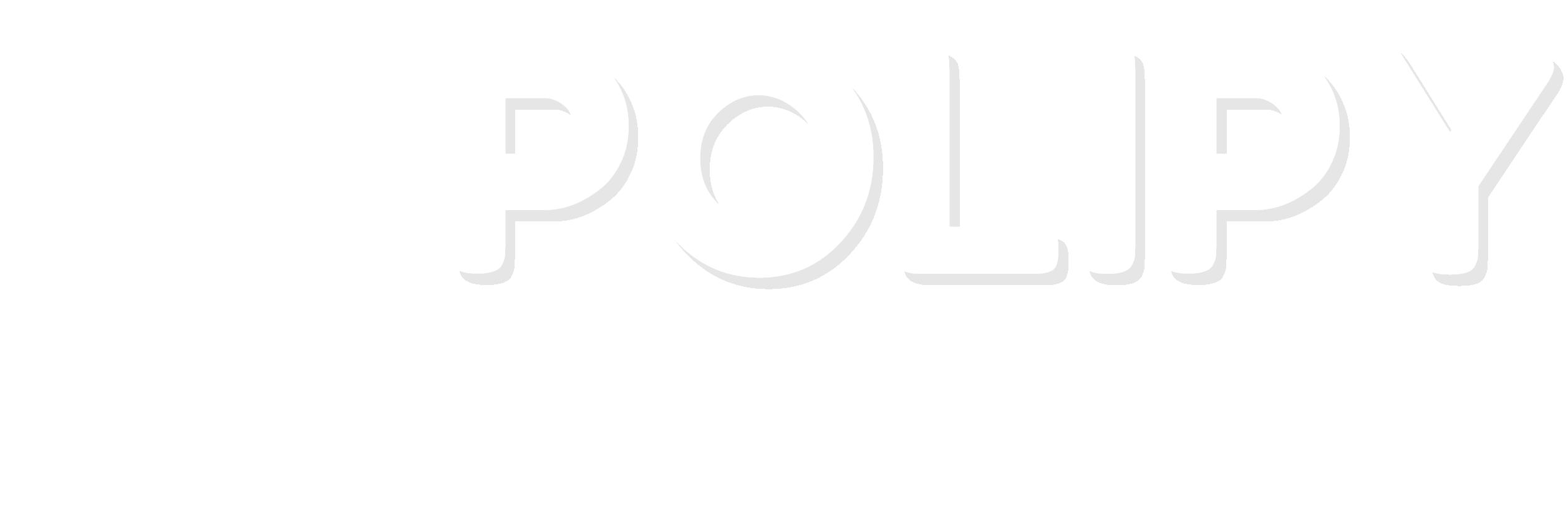 Polipy - Logo bianco